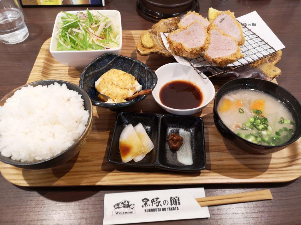 黒豚の館-ヒレカツ定食